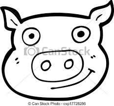 vector cartoon pig face csp17728286 clip art