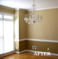 Two Tone Dining Room Paint Two Tone Dining Room With Chair Rail Light Color Above