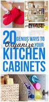 20 genius ways to organize your kitchen cabinets the krazy