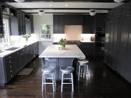 Grey Wood Floors Kitchen by Several Stylish Ways To Make Your Grey Kitchen Cabinets Work On