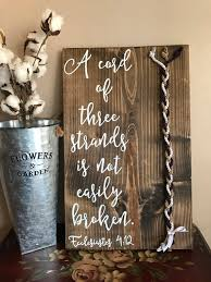 3 cords wedding ceremony a cord of three strands is not easily broken rustic wedding