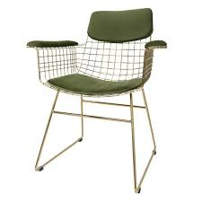 Metal Armchair Modern Metal Armchair In Brass U2013 Mink Interiors