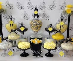 Black And White Candy Buffet Ideas by 40 Best Black And Yellow Theme Party Images On Pinterest Yellow
