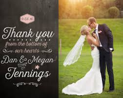 thank you wedding cards wedding thank you cards etsy il