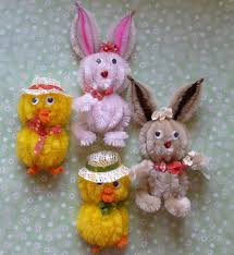 chenille easter of vintage chenille easter critters with by paisleyana 6 99