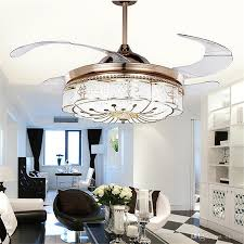 2017 invisible ceiling fans lights bedroom remote control lamp