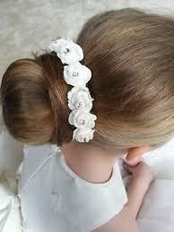 flower hair bun hair bun ring garland bridesmaid flower girl roses rhinestones