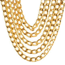 vintage jewelry choker necklace images Chanel multi strand chain choker necklace gold 120683 jpg