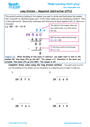 long division repeated subtraction htu teach my kids