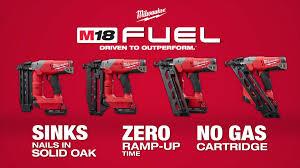 milwaukee m18 fuel finish nailers youtube