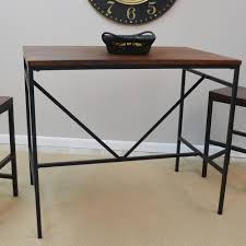 industrial style pub table carolina cottage aileen rich chestnut and black pub bar table