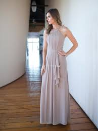 halter bridesmaid dresses us 149 99 silver pleated top chiffon floor length halter neckline