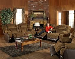 Two Tone Reclining Sofa Pc Avenger Two Tone Tobacco Coffee Reclining Sofa Set By Catnapper