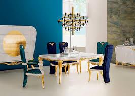 mesa de diseño nuevo barroco de madera rectangular spacium