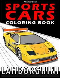 sports cars coloring book lamborghini alexander duval