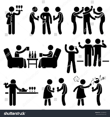 cocktail party people man friend gathering stock illustration