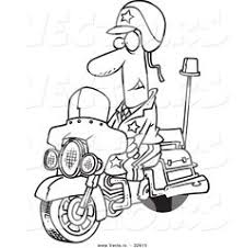 chopper moto with its owner coloring page coloring page