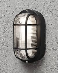 Bulkhead Outdoor Lights Utility Outdoor Oval Black Bulkhead Light