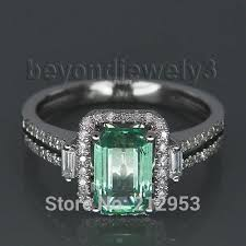 vintage emerald engagement rings new vintage 100 emerald engagement ring solid 14k white