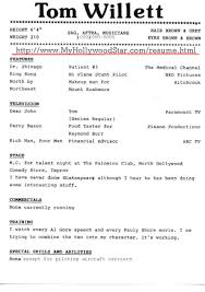 actor sample resume resume for your job application