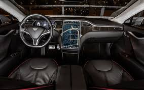 the tesla model 3 u0027s interior is dominated by a large screen which