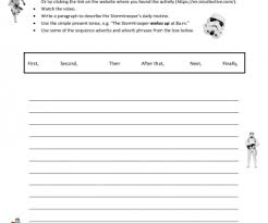 worksheet daily routine description star wars stormtrooper
