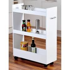 rangement de cuisine meuble de rangement pour cuisine à roulettes renforts en bois