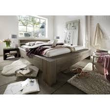 Schlafzimmerm El Echtholz Echtholz Balkenbett 180x200 Heavy Sleep Alba Wildeiche Massiv