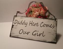 daddy here comes our rustic sign white and black shabby chic