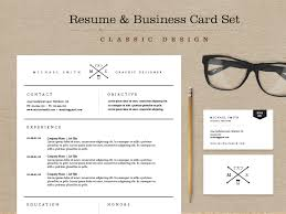 classic resume u0026 business card set by skybox creative dribbble