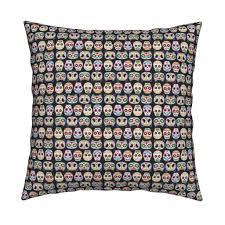 sugar skulls woop fabric pinkupinkupinku spoonflower