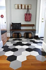 hex tile mudroom with transition to wood floor kitchen loving the