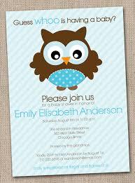 owl baby boy shower invitations iidaemilia com