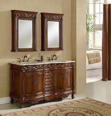 Wallpaper Bathroom Designs Traditional Style Old World Feel Antiqued Mirror Travertine Tuscan