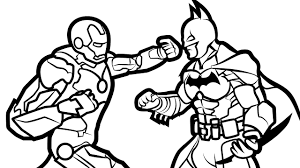 iron man vs batman coloring book coloring pages kids fun art