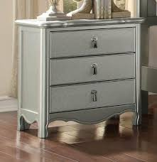 homelegance 1901 4 traditional two tone champagne wood nightstand