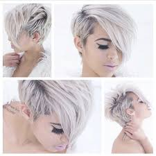 history on asymmetrical short haircut snow white hair color and adorable short haircut and hairstyle