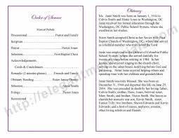 funeral programs exles obituary templates archives funeral programs