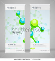 fancy brochure templates brochure cover design abstract roll up stock vector 558562162