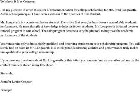 5 recommendation letter for student scholarship pdf