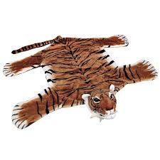 Kids Animal Rugs Plush Tiger Rug Drunkmall