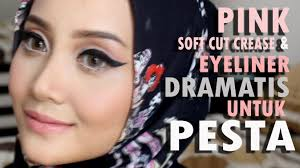 tutorial makeup natural hijab pesta make up pesta kondangan dramatic winged liner linda kayhz