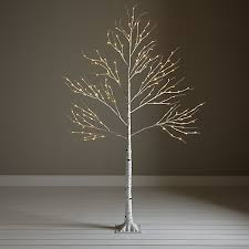 buy lewis pre lit paper birch tree white 6ft