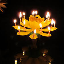 lotus birthday candle wholesale rotation birthday candle musical lotus rotating