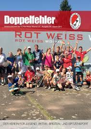 Metzler Bad Neuenahr Doppelfehler Ausgabe 54 2017 By Tc Rot Weiss Worms Issuu