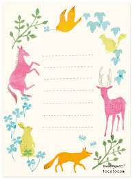 printable animal lined paper free download charming animal note sheets blogged illustrated by