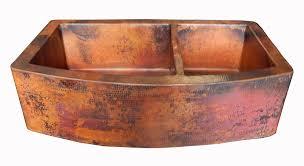 copper apron front sink rounded apron front farmhouse kitchen double bowl mexican copper