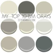 top 10 favorite benjamin moore grays city farmhouse top