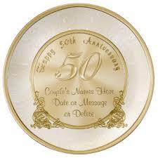 golden anniversary gift ideas custom wedding anniversary porcelain plates