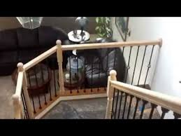 iron baluster stair railing diy youtube
